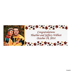 Fall Wedding Custom Photo Banner - Medium