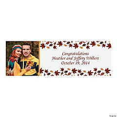 Fall Wedding Custom Photo Banner - Small