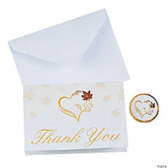 Fall Wedding Thank You Cards
