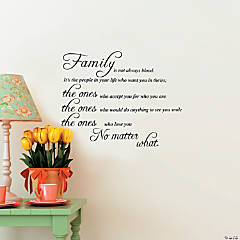 Family is Not Always Blood Wall Decals