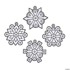 Fancy Snowflake Suncatchers