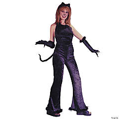 Fantastic Feline Velvet  Adult Women's Costume