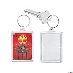Far East Theme Picture Frame Keychains