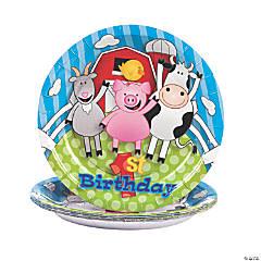 Farm 1st Birthday Paper Dessert Plates