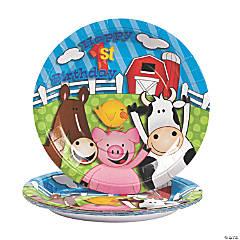Farm 1st Birthday Paper Dinner Plates