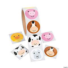 Farm Animal Face Stickers