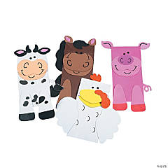 Farm Animal Friend Puppets Paper Bag Craft Kit