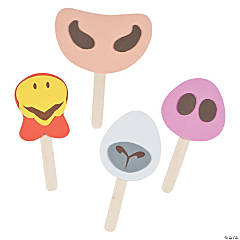 Farm Animal Nose on a Stick Craft Kit