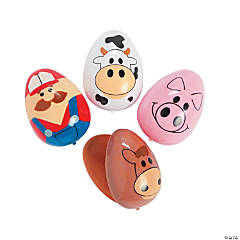 Farm Animal Plastic Easter Eggs