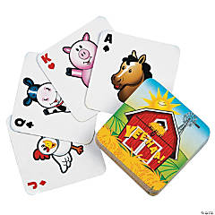 Farm Animal Playing Cards