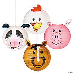 Farm Party Paper Hanging Lanterns