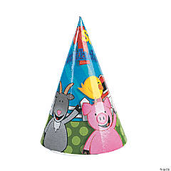 Farm 1st Birthday Cone Hats