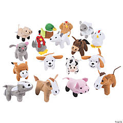Farm Stuffed Animals in a Barn Box