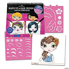 Fashion Angels Make-Up & Hair Design Sketch Portfolio with Colored Pencils