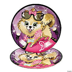Fashion Puppy Dinner Plates