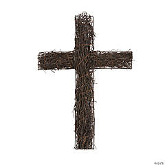 Faux Grapevine Wall Cross