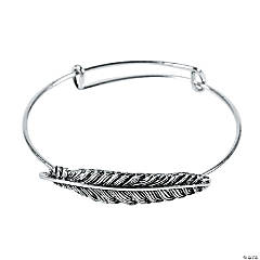 Feather Expandable Bangle Bracelets