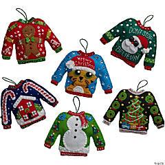 Felt Ornaments Kit Set Of 6-Ugly Sweater