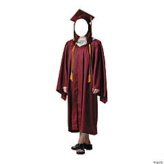 Female Graduate Red Cap & Gown Stand-In