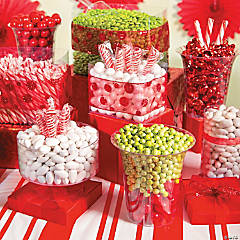 Festive Christmas Candy Buffet Idea