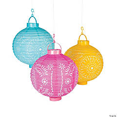 Fiesta Cutout Light-Up Hanging Paper Lanterns