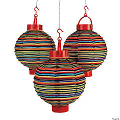 Fiesta Light-Up Hanging Paper Lanterns