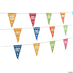 Fiesta Party Cutout Plastic Pennant Banner