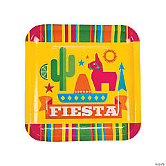 Fiesta Party Paper Dinner Plates