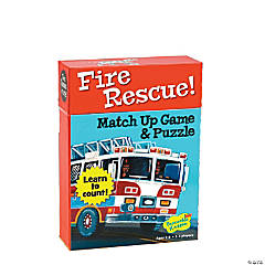 Fire Rescue Numbers Match Up Game