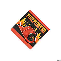 Firefighter Party Beverage Napkins