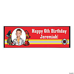 Firefighter Party Custom Photo Banner