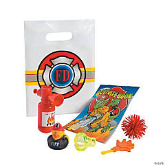 Firefighter Party Filled Treat Bags