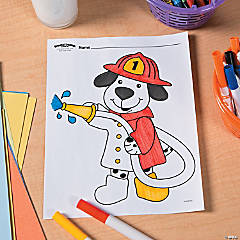 Firefighter Party Free Printable Coloring Page Idea