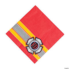 Firefighter Party Luncheon Napkins