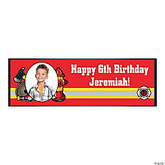 Firefighter Party Medium Custom Photo Banner