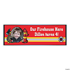 Firefighter Party Small Custom Photo Banner
