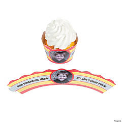 Firehouse Heroes Custom Photo Cupcake Wrappers