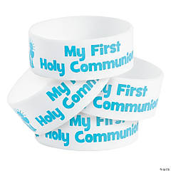 First Communion Big Band Rubber Bracelets