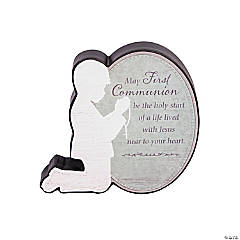 First Communion Sitter Plaque - Boy