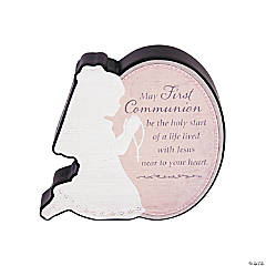First Communion Sitter Plaque - Girl