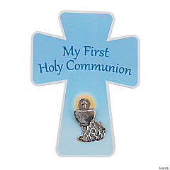 First Communion Wings Pins on Card