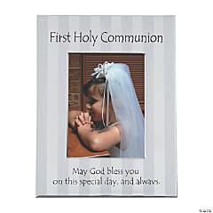 First Holy Communion Striped Picture Frame