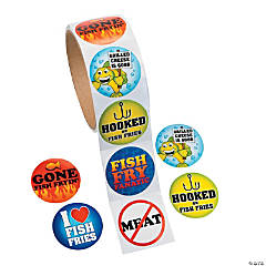 Fish Fry Roll of Stickers