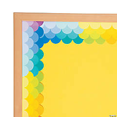 Fish Scale Rainbow Scalloped Bulletin Board Borders