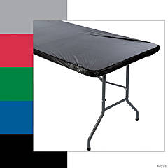 FItted Rectangle Plastic Tablecloth
