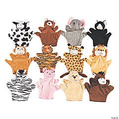 Five Finger Stuffed Animal Hand Puppets