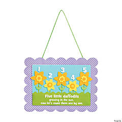 Five Little Daffodils Sign Craft Kit