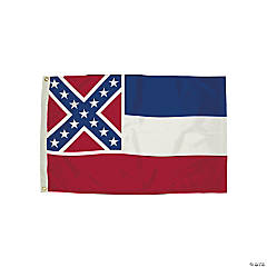FlagZone Durawavez Nylon Outdoor Flag with Heading & Grommets, Mississippi, 3' x 5'