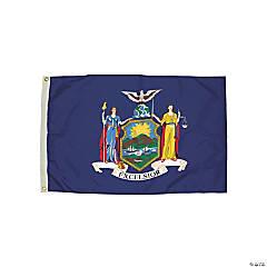 FlagZone Durawavez Nylon Outdoor Flag with Heading & Grommets, New York, 3' x 5'