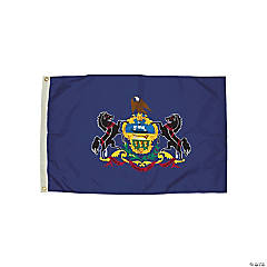 FlagZone Durawavez Nylon Outdoor Flag with Heading & Grommets, Pennsylvania, 3' x 5'